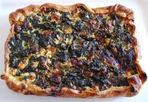 Torta con spinaci e feta