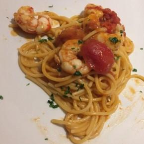 Spaghetti con Gamberoni
